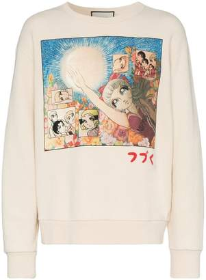 Gucci Manga print cotton sweatshirt