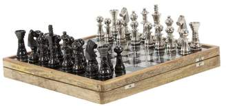 Brimfield & May Traditional Metal and Wood Chess Set