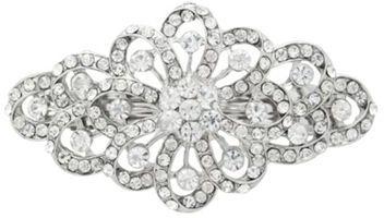 Pave crystal flower hair clip