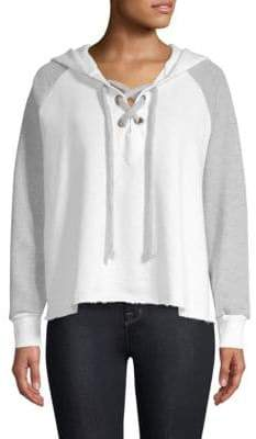 Wildfox Couture Contrast Lace-Up Hutton Sweater