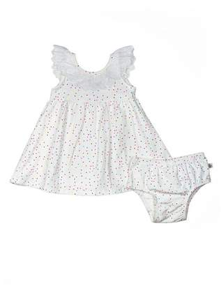 Rosie Pope Polka Dot Eyelet Dress (Baby Girls)