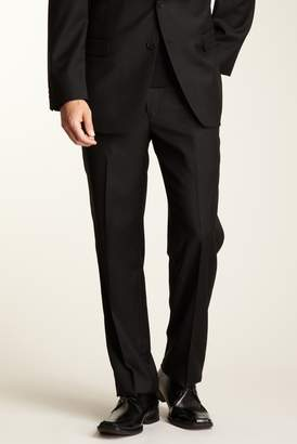 """Calvin Klein Slim Fit Solid Black Wool Pants - 30-34\"""" Inseam"""