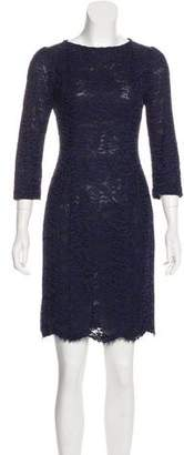 L'Wren Scott Cotton Lace Knee-Length Dress