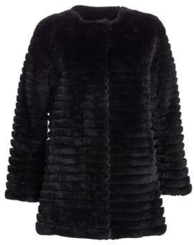 The Fur Salon Dyed Rabbit Jacket