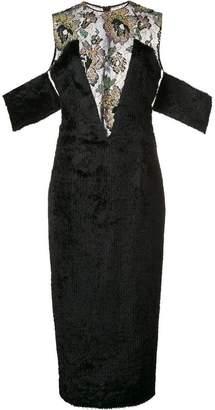 Sophie Theallet sheer embellished panel dress