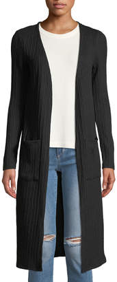 Kensie Ribbed Open-Front Duster Cardigan