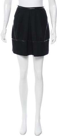 prada Prada Virgin Wool Mini Skirt
