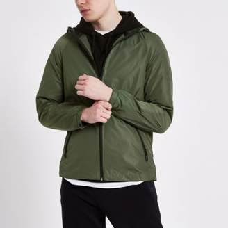 River Island Only and Sons khaki lightweight hooded jacket