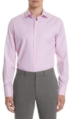 Canali Regular Fit Geometric Print Dress Shirt
