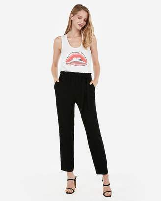 Express Striped Lip Graphic Scoop Neck Muscle Tank