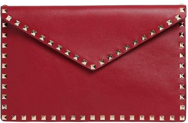 Medium Rockstud Leather Envelope Pouch