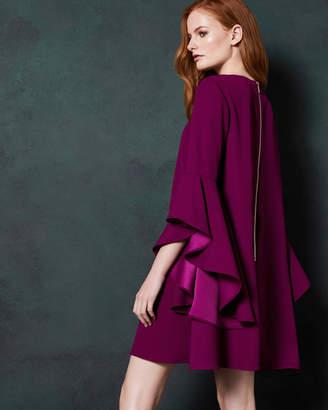 Ted Baker ASHLEYY A-line waterfall sleeve dress