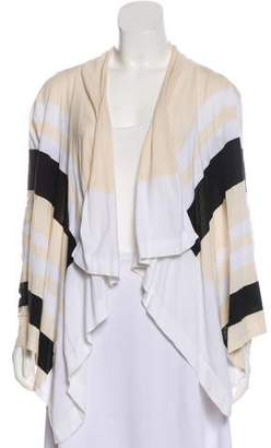 Magaschoni Open Front Shawl Lapel Cardigan
