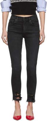 A Gold E Agolde Black Sophie Skinny Jeans
