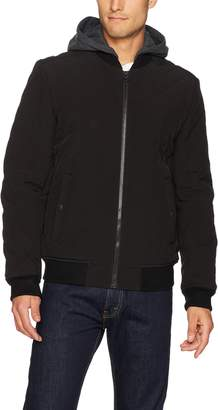 Levi's Men's Quilted Softshell Hooded Bomber Jacket