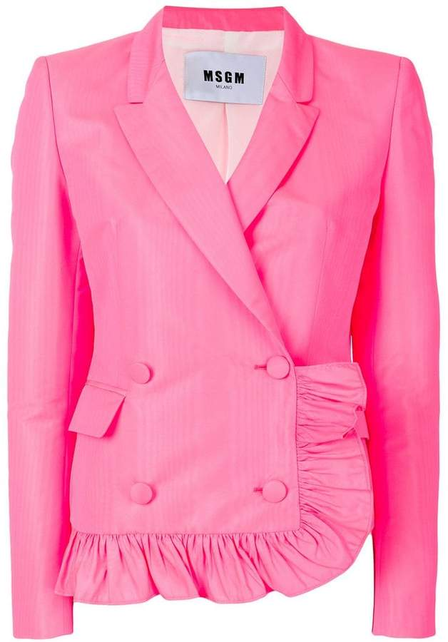 ruffle detail jacket