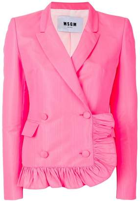 MSGM ruffle detail jacket