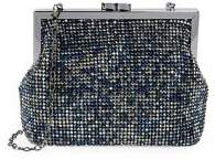 La Regale Embellished Magnetic Top Pouch