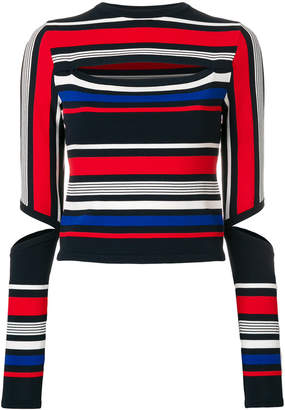 Tommy Hilfiger cut out striped top