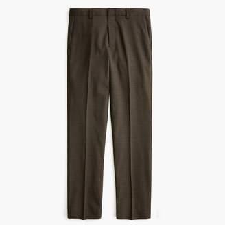 J.Crew Ludlow Slim-fit pant in stretch four-season green glen plaid wool