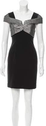 Nicole Miller Contrast Cap Sleeve Dress w/ Tags $175 thestylecure.com