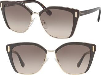 8df0fdf10081 Prada 57mm Gradient Geometric Sunglasses