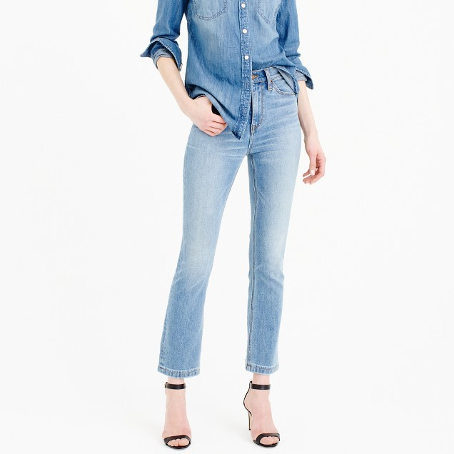 J.Crew Billie demi-boot crop jean in Surrey wash