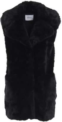 Dondup Black Faux Fur Sleeveless Short Coat