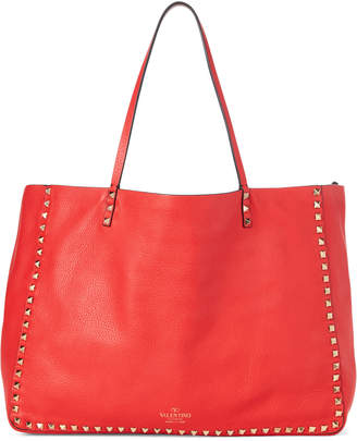 Valentino Rockstud Reversible Large Leather Tote