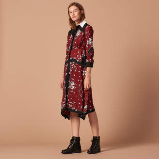 Sandro Long printed dress
