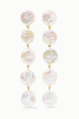 Chan Luu Gold-plated Pearl Earrings - White