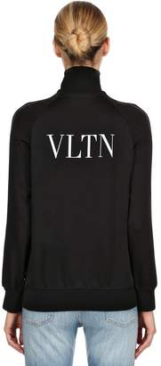 Valentino Vltn Printed Techno Satin Sweatshirt