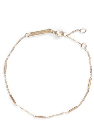 Chicco Zoe Tiny Bar Station 14K Gold Bracelet