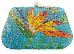 Rafe Rosie Embroidered Clutch Bag with Dragonfly