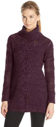 Heather B Women's Marled Turtle Tunic