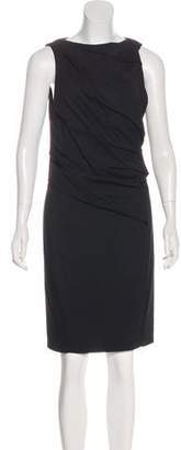 Helmut Lang Draped Sheath Dress