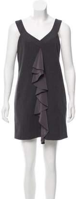 Black Halo Sleeveless Ruffle Dress