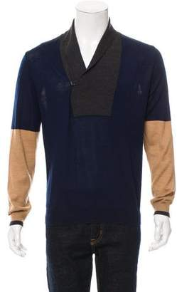 Alexander McQueen Colorblock Wool Sweater