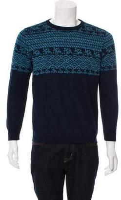 Blue Blue Japan Linen-Blend Crew Neck Sweater