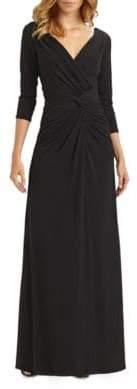 Tadashi Shoji Ruched Jersey Gown