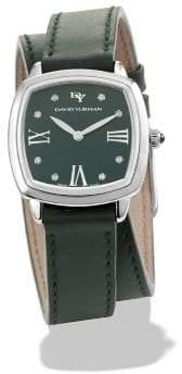 David Yurman Albion® 27Mm Leather Swiss Quartz Watch