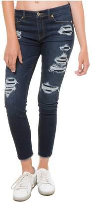 Juicy Couture Crystal Embellished Denim Rip & Repair Skinny Jean