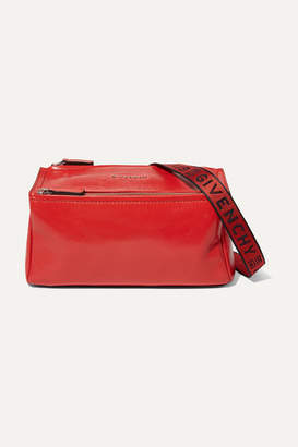 Givenchy Pandora Mini Washed-leather Shoulder Bag - Red