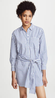 Current/Elliott The Alda Stripe Shirt Dress