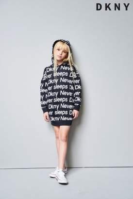 Next Girls DKNY Girls Black Slogan Hoody