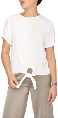 Just Female White Knotted Blouse