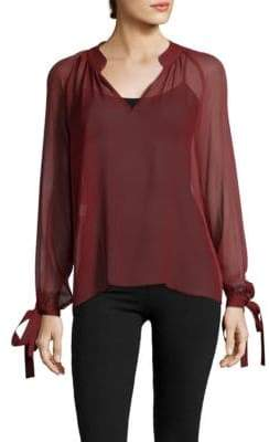 Derek Lam 10 Crosby Long-Sleeve Silk Blouse
