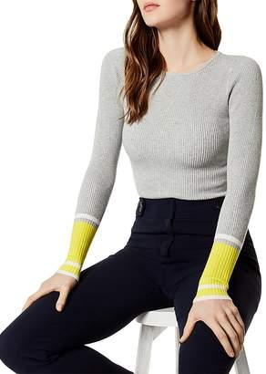 Karen Millen Color-Block Rib-Knit Sweater
