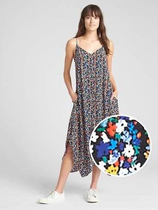 Gap Cami Floral Print Handkerchief Maxi Dress