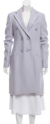 Christian Dior Double-Breasted Knee-Length Coat